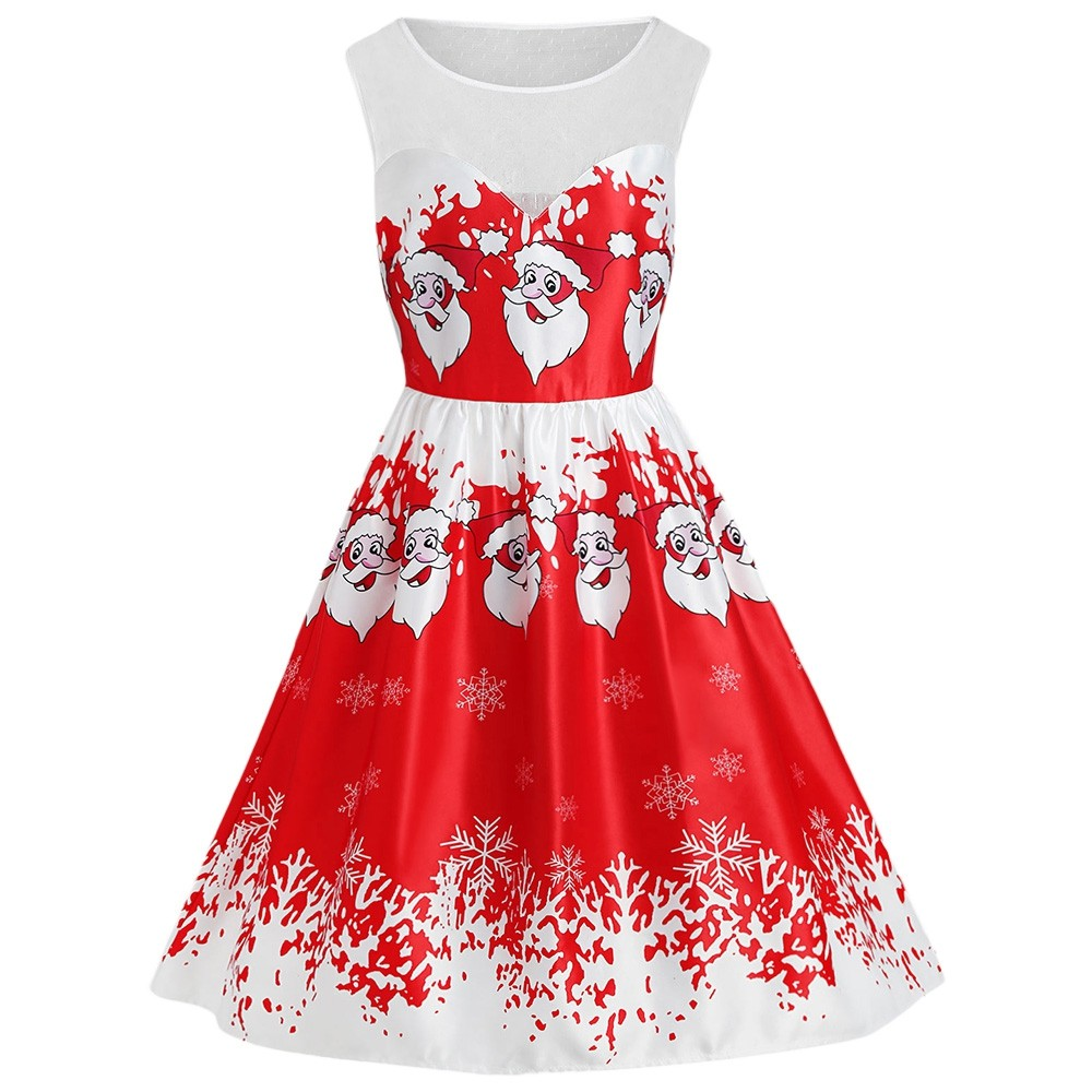 7706a0b4bd38 Plus Size Lace Panel Santa Claus Christmas Dress RED 1X: Product No:  7195310. Item specifics: Seller SKU:C6PF7WD5R: Brand: Style: Vintage