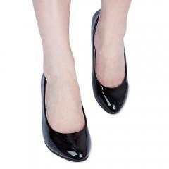 Spring Elegant Shallow Mouth Low Heel Sandals for  BLACK 37
