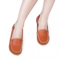 Casual Oversize Slip On Leather Loafers Oxford Sho JACINTH 38