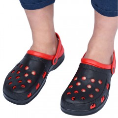 Summer Male Double Layer Slip-on Skid Resistance B RED WITH BLACK 41