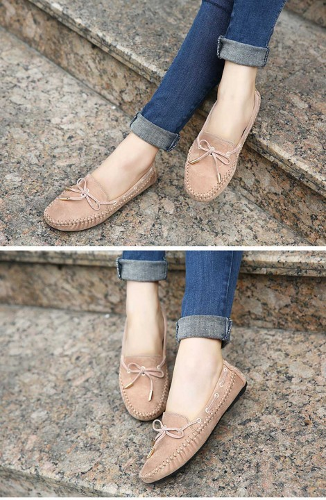 Fashionable Handwork Bowknot Design  Round Toe Women Flat Shoes
