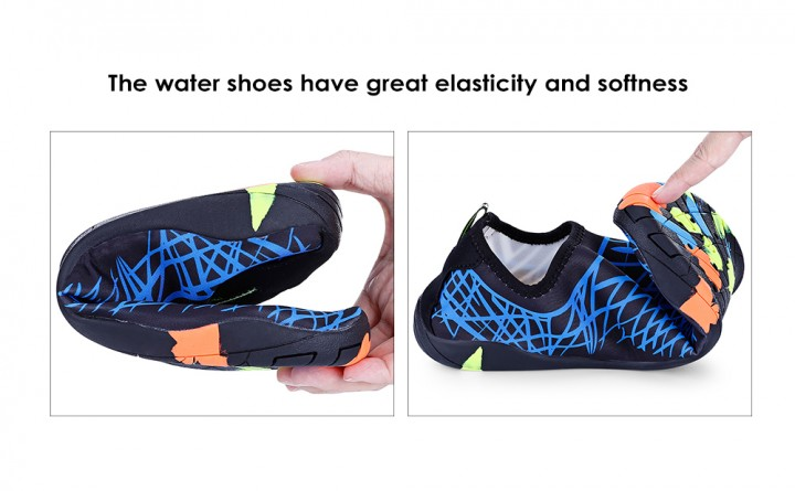 691340c6d382 Outdoor Round Toe Quick-dry Breathable Flat Heel Slip-on Men Water Shoes
