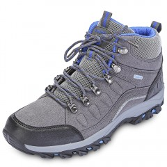 Men Fashion Casual Lace-up Breathable Skid-resista sports shoes hiking BLUE 40