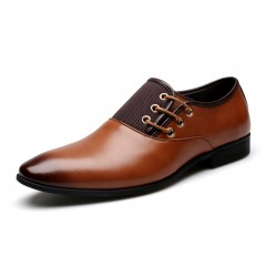 Men Casual Fashion Outdoor Lace Up Wedding Busines shoes worn in the office BLACK BROWN COFFEE BROWN 46