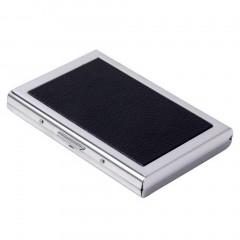 Waterproof Aluminum Business ID Credit Card Mini Wallet Holder Pocket Case Box black One Size