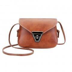 Fashion Soft PU Leather Women Crossbody Bag Adjustable Strap Shoulder Bag brown One Size