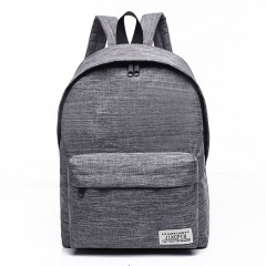 Casual Style Canvas Backpack Large Capacity Travel Shoulder Bag School Bags
