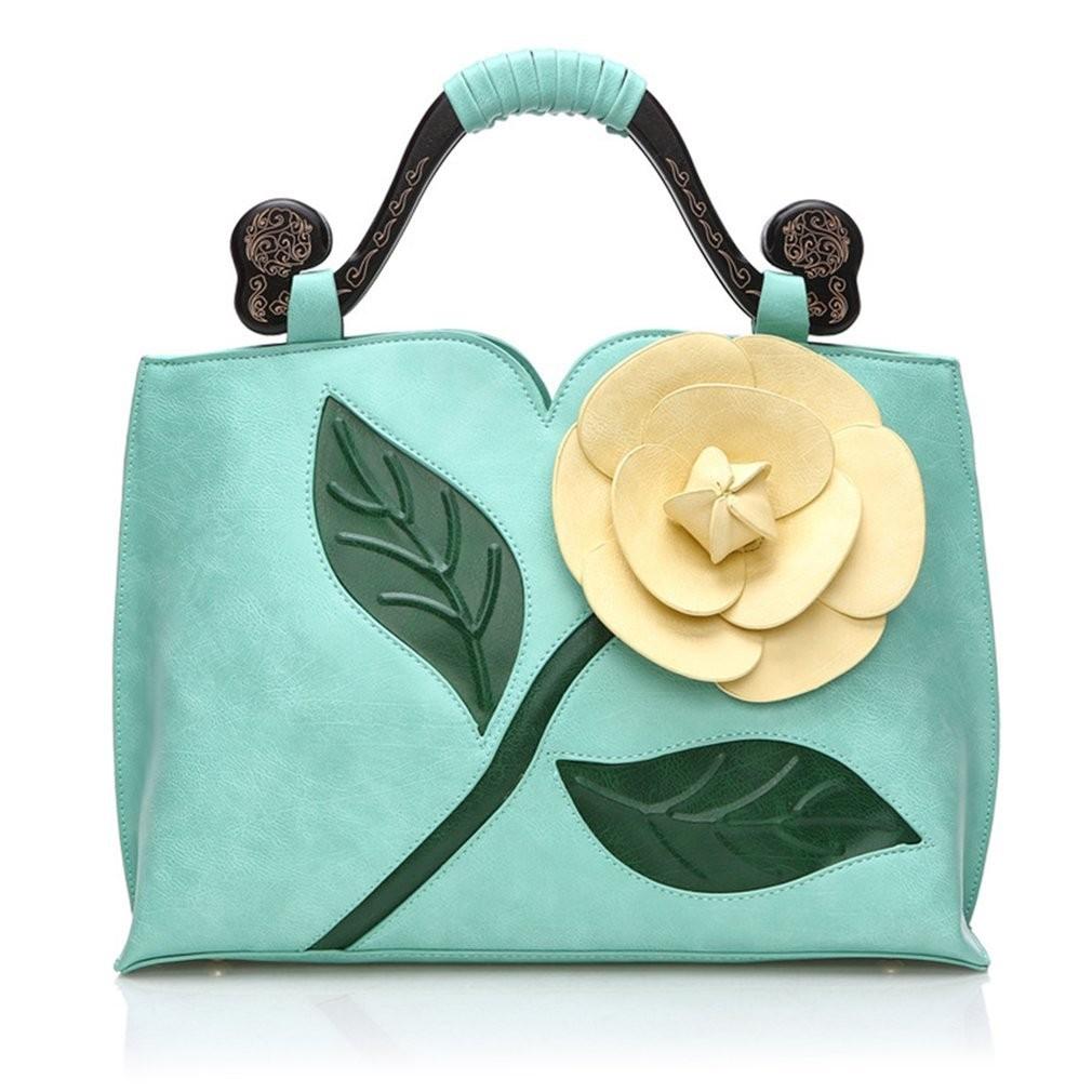 671370bef0e1 Rose Stereo Lady Bag Vintage Women s Handbag Fashion PU Leather ...
