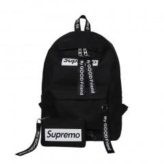 Large Capacity Women Canvas Backpack Casual Solid Teenage Girls School Bag