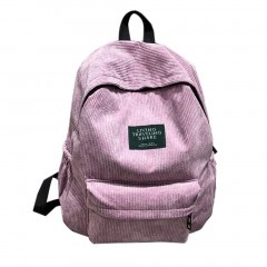 Simple Velvet Backpack Large Capacity Back Bag Unisex School Bag For Teenagers as picture One Size