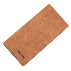 Fashion Men Ultra-thin Frosted Long Two Fold Wallet Card Holder Purse Clutch