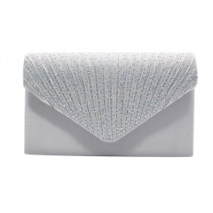 Women Clutch Bag Party Night Club Evening Bag Charms Solid Color Female Bag