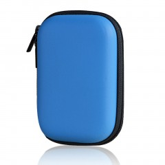 Multifunctional EVA Power Bank Hard Disk Storage Case Bag With Zipper blue One Size