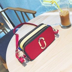 Fashion PU Leather Women Crossbody Bag Small Flap Bag Zipper Shoulder Bag Red One Size