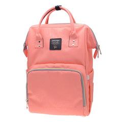 2PCS/SET Large Capacity Multifunctional Mommy Backpack Mommy Diaper Bag orange One Size