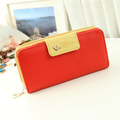 Long Wallet Clutch Bird Women Purse Simple Fashion Coin ID Card Holder Male Phone Bag Leather Purse red one size
