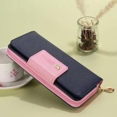Long Wallet Clutch Bird Women Purse Simple Fashion Coin ID Card Holder Male Phone Bag Leather Purse dark blue one size