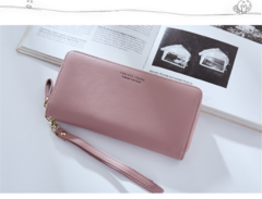 Women Long Clutch Wallet Large Capacity Wallets Female Purse Lady Purses Phone Pocket Card Holder pink one size