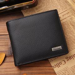 Men Wallets Short Design ID Card Holder Waterproof Black Wallet Casual Men Purse black one size