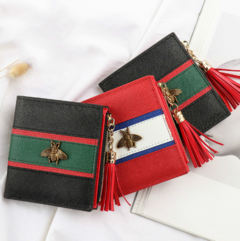 Women Wallets Purses Hasp Wallet Female Small Coin Purse Leather Zipper Purse red one size