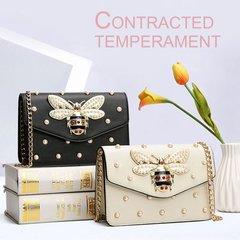 Luxury Rhinestones Inlay Bag Small Square Chain Bag Female Crossbody Bag black One Size