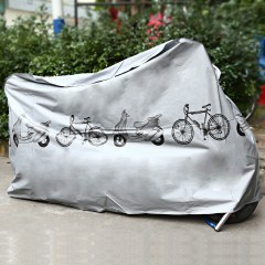 Electric Motorcycle Cover Rainproof Dustproof Gara SILVER