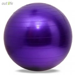Outlife 65cm PVC Exercise Gym Yoga Ball for Fitnes PURPLE