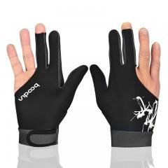 1 PCS Cue Billiard Pool Shooters 3 Fingers Gloves  BLACK M