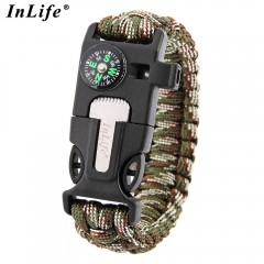 Inlife Multifunctional Whistle Flint Compass Knitt ARMY GREEN CAMOUFLAGE