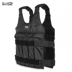 SUTENG 50kg Max Loading Weighted Vest Adjustable J BLACK