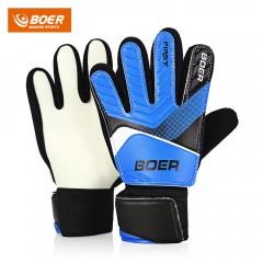BOER Anti-skid Finger-save Child Goalkeeper Gloves BLUE 5