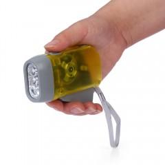 Portable Emergency 3-LED Flashlight Hand Pressure  YELLOW