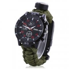 EMAK Multifunctional Survival Paracord Bracelet Sc ARMY GREEN