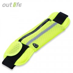 Outlife Outdoor Sport Breathable Running Bag Anti- NEON GREEN