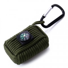 8 in 1 Survival Paracord Fishing Tools Key Chain C ARMY GREEN