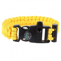 Multifunctional Whistle Flint Compass Knitted Surv YELLOW