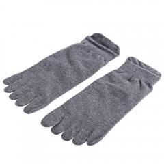 Paired Men Cotton Five Fingers Toe Ankle Socks for LIGHT GRAY