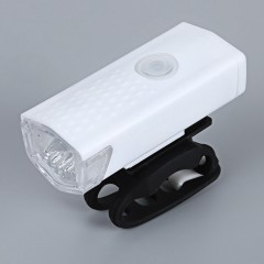 Water Resistant USB Rechargeable Bike Front Light  WHITE