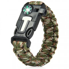 5 in 1 Outdoor Survival Gear Escape Paracord Brace CAMOUFLAGE COLOR