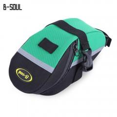B - SOUL Cycling Mountain Bike Tail Saddle Bag Out BLACK AND GREEN