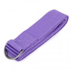 1pcs 180cm Yoga Stretch Strap D-ring Belt Stretchi PURPLE