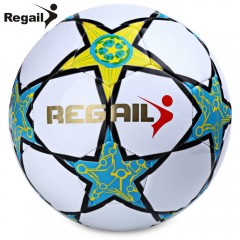 Regail Size 5 Five-pointed Star Soccer for School  WHITE