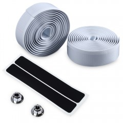 Cycling Road Bike Handlebar Tape Bar Plug Belt Str WHITE