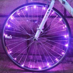 Bicycle Cycling 20 LEDs Colorful Cool Safety Spoke PINK