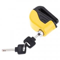 Small Disc Brakes Electron Bicycle Bike Alarm Lock YELLOW
