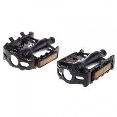 Paired Aluminum Alloy Mountain Bike Pedal Fixed Ge BLACK