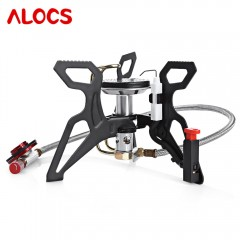 ALOCS CS - G22 Powerful Gas Grills for Camping Coo BLACK