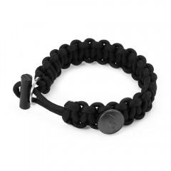 EDC Gear 3 in 1 Survival Bracelets with Fire Start BLACK
