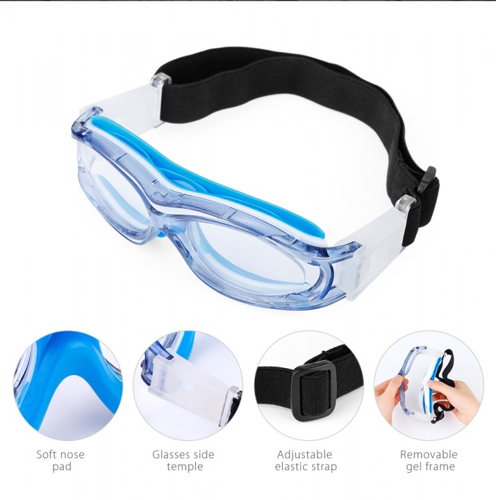 67b2bafbbb FreeBee Children Anti-fog Basketball Glasses Eyewear with Adjustment Strap  for Volleyball Hockey Rugby Soccer