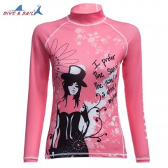 DIVE - SAIL LS - 641 Diving Suits with Long Sleeve PINK S